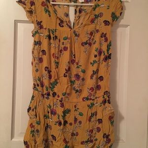Yellow Floral Old Navy Romper